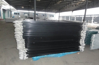 picket 25mm*25mm 1.2mm wall thick 2100mmx2450mm width square flat top spacing 125mm 40mm rails Hercules fence panels supplier