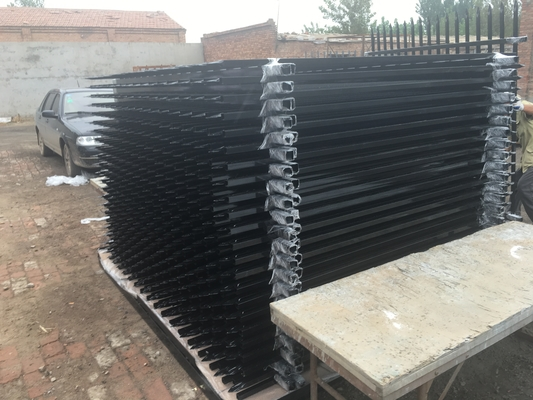 Garrison Security Fencing steel picket Fence for sale 65mm x 65mm x 3000mm post supplier