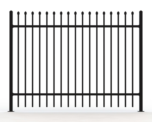 China Tubular Hot Dipped Steel Fence Panels ,Crimped Top Spear Highest Deterrent Fence supplier