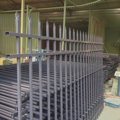 Australia Black Powder Coated Spear Top Garrison Fencing/Wrought Iron Fencing supplier