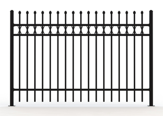 2.1m X2.4m Spear Top Security Steel Fence/ Steel Fencing supplier