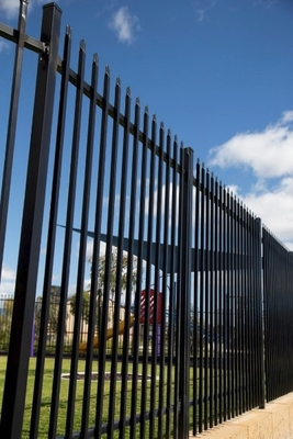 1.8X2.5m Garrison Steel Picket Fence Panel | Steel Picket Fence Factory Garrison, Hercules Fence supplier