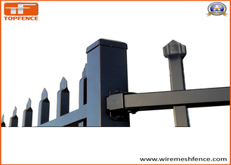 China Powder Coated Pressed Spear Top Hercules Steel Security Fence Panel in Garden,Pool,Shool,Factory (Fact supplier