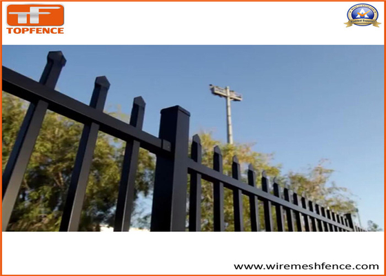China Australia Standard Steel Tubular Fence for Sale available 2 rail ,3 rails and 4 rails supplier