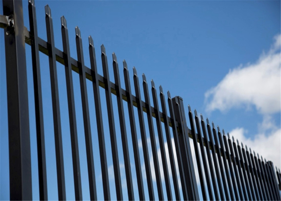 2430*1600mm Factory Outlet Welded Galvanized Power Coated Steel Fence/Ranch /Garden Fencing with Flattened Spear