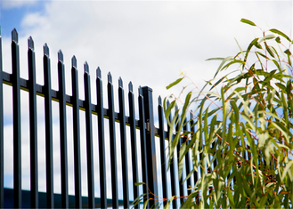 Steel Fencing Panels 1.80meter x 2.4meter Rails 40mm*40mm*1.6mm stain black powder Upright spacing 140mm centre