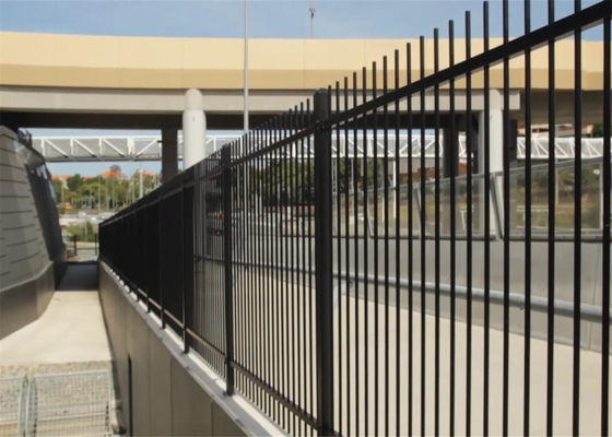 China Flat Top Tubular Steel Fence Panels 2100mm height x 2400mm Width Rails 40mm x 40mm upright 25mm x 25mm supplier