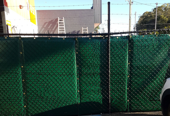 25dB temporary noise barriers composite laminated fabric 1.2mm outside please pvc plastic film
