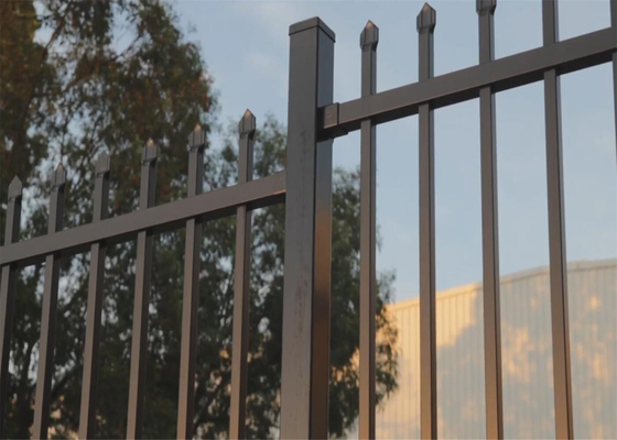 Crimped Spear security Steel Fencing  come with 65mm square tubing 2.1mtrx2.4mtr  stain powder coating