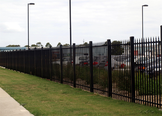 China spear top security garrison fence/security metal fence supplier