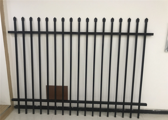 Galvanized Steel Fence Panels Powder Coated Black Steel Hercules Fencing Panels supplier