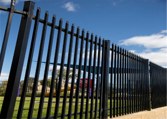 China Diplomat Security Fencing Panels 2.1mx2.4m black powder coated supplier