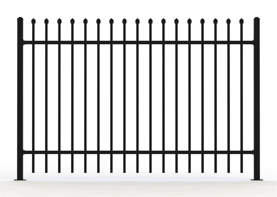China 2100mm*2400mm Australia standard black garrison spear tubular steel fence supplier