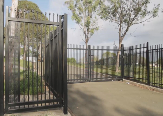 garrison fence panels spear crimped design 1800mm height and 3000mm width supplier