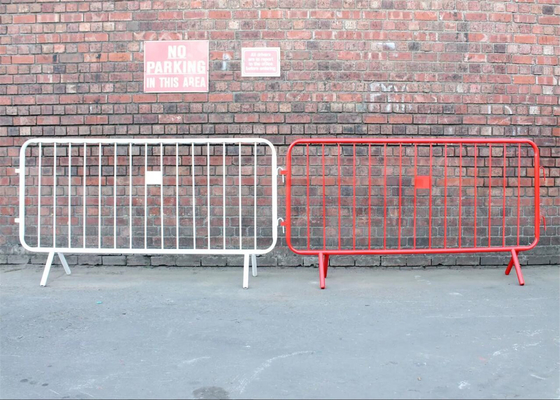Powder Crowd Control Barriers 1090mm x 2500mm Width Spacing 100mm Upright 16mm Tube Outer Frame 35mm wall thick 1.00mm supplier