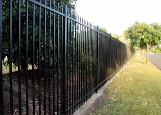 powder coated tubular steel fence supplier