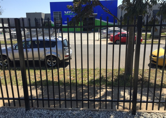 Villa galvanised steel fence