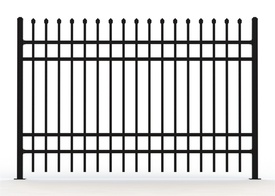 crimped spear tubular picket fencing panels