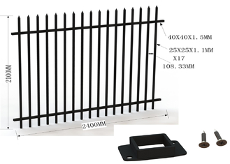 Aluminum wrought iron fence supplier