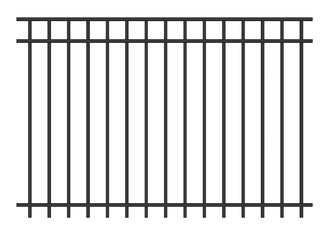 Aluminum wrought iron fence