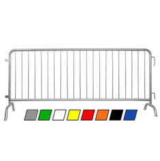 8.5ft crowd control barrier flat steel base /power coated hot dipped galvanized supplier