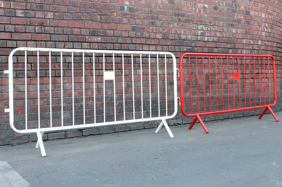 3.7ft x 7.5 Ft. Heavy Duty Fixed Foot hot dipped galvanized  crowd control barriers