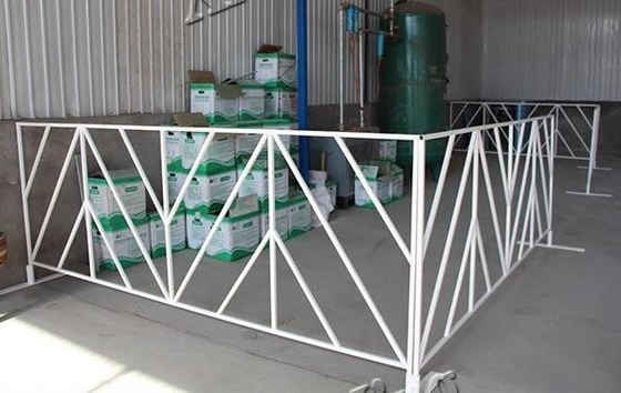 sports portable US standard white powder coating crowd control barriers