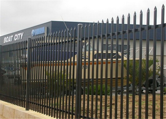 Black Powder Coated Spear Top Steel Hercules Fencing for Security School