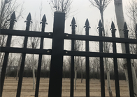 Coated Steel Garden and Park Fence 1200mm x 2400mm stain RAL 6005 color upright 25mmx25mm
