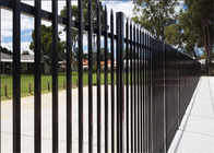 Commercial Galvanized Security Steel Fence Panels Tubular Coated POWDER 2 rails 3 rails 4 rails available
