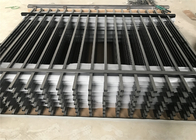 Tubular Steel Garrison Fence  Flat Top Design 25MM upright picket 25mm*1.2mm 1.5m*2.45m rails 2 x40mm*1.6mm wall thick