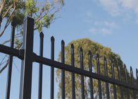 Black Spear Top Industrial Garrison Security Fencing Panels / Perth Garrison Security Fencing Panels