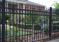 China security spear top steel fence, garden wrought iron fencing factory