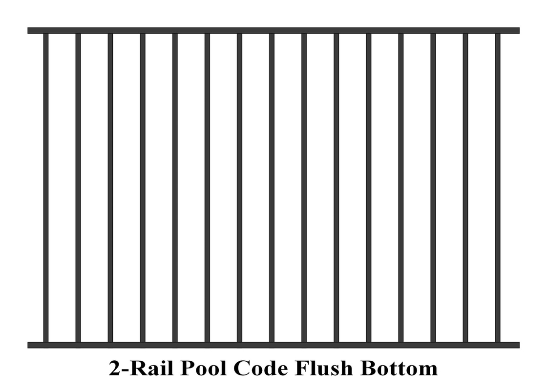 Tubular Steel Fencing Panels 2000mm Height come with 32mmx32mm tubing vertical 19x25mm supplier