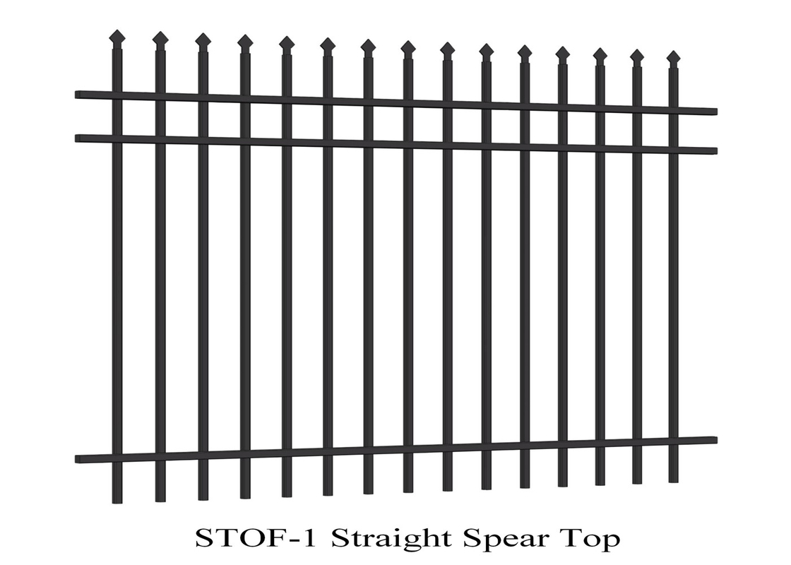 Stright Spear Top Garrison Fencing Panels 2100mmx2400mm tubular security fence supplier