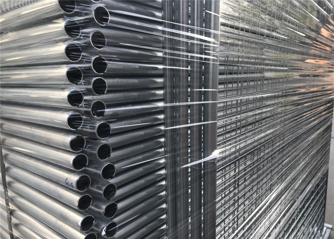 Hot dipped Galvanized Steel Temporary Fencing Melbourne Market Height 2200mm x 2400mm Width