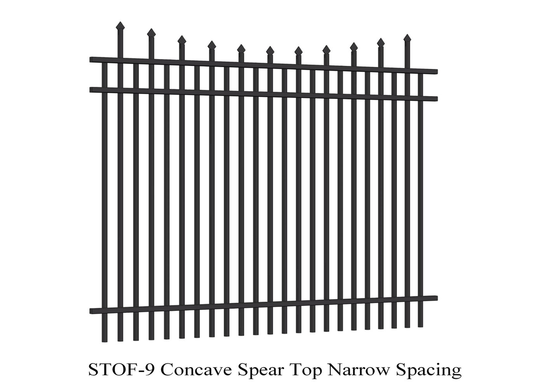 Australia  Standard Powder Coated Commercial Garrison Security Oz Wide Fence supplier