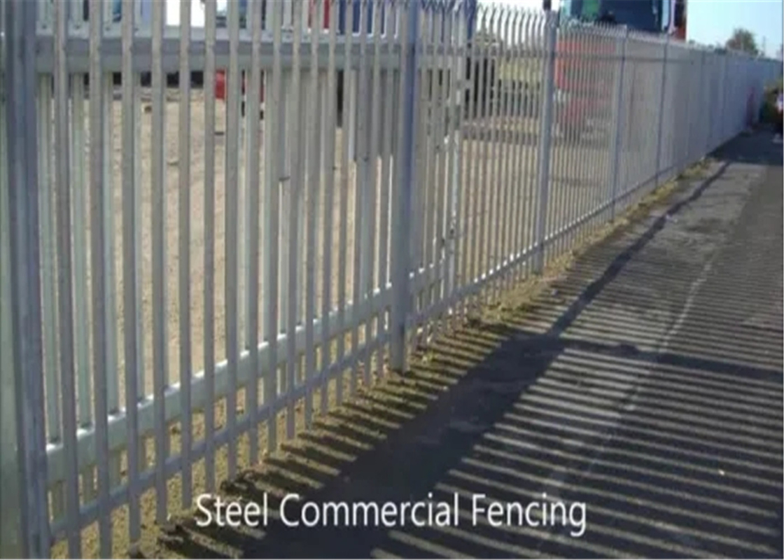 2.4m Height x 2.75m Width Palisade Fencing Panels Powder Coated Black HOt dipped Galvanized supplier