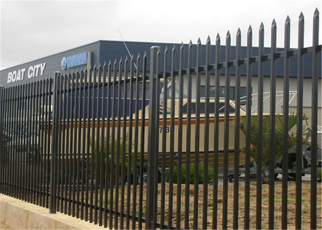Black Powder Coated Spear Top Steel Hercules Fencing for Security School supplier