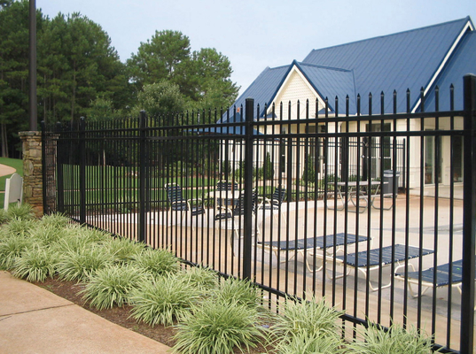 China Customized Powder Coating Steel Fence and Steel Gate Designs distributor