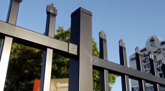 China PVC Coated Ornamental Spear Top Security Steel Tubular Fence in Garden,Home,Factory, School ,Villa distributor