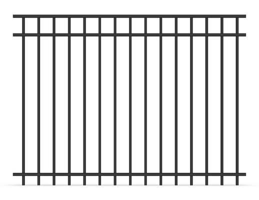 Flat Top Tubular Steel Fence Panels 2100MM X 2400MM for pool fencing and industries Zone
