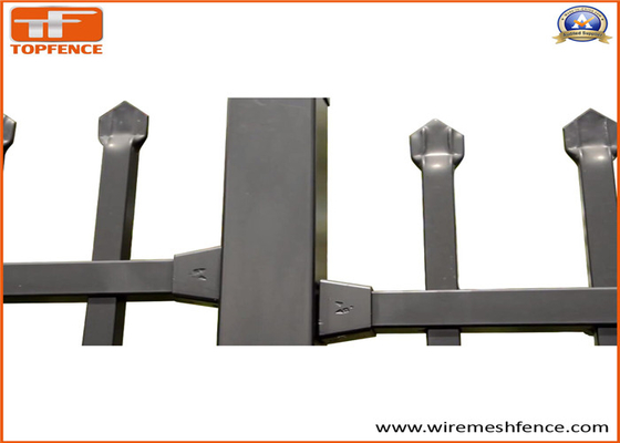 Good Quality Garrison fence & Steel Picket Fence ,High Quality Coated Black Interpon Powder on sale