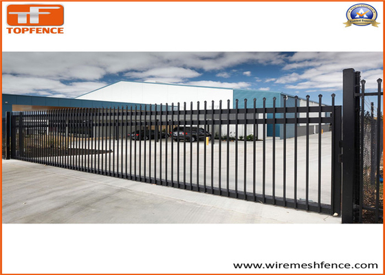 Good Quality Garrison fence & Tubular Hot Dipped Steel Fence Panels ,Crimped Top Spear Highest Deterrent Fence on sale
