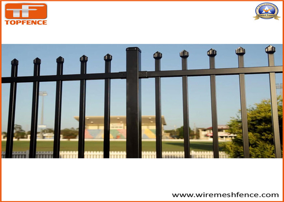 Good Quality Garrison fence & Tubular Steel Fence 25mm x 25mm pailings and 2100mm x 2400mm panels on sale