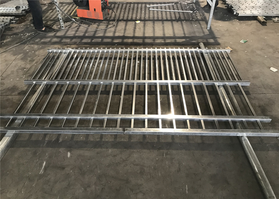 China Steel Tubular Fence Panels Customized Size 2.1m x 2.45m Rail 50mm Punched Hot dipped Galvanized In Zinc Pool distributor