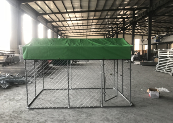 China chain link dog kennel 4' height x 10' width x 10' length OD32mm tube wall thick 1.00mm mesh 60mm x 60mm chain wire 2.2mm distributor
