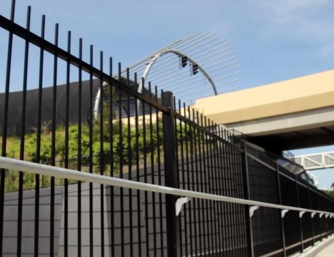 Powder Coated Pressed Spear Top Hercules Steel Security Fence Panel in Garden,Pool,Shool,Factory (Fact