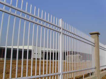 White security fencing are used to secure your prized estates, family and business.
