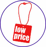 Low price tags for our steel fence products